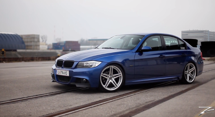 M Sport Estoril Blue BMW E90 M3 Rides on Z-Performance Wheels [Video]