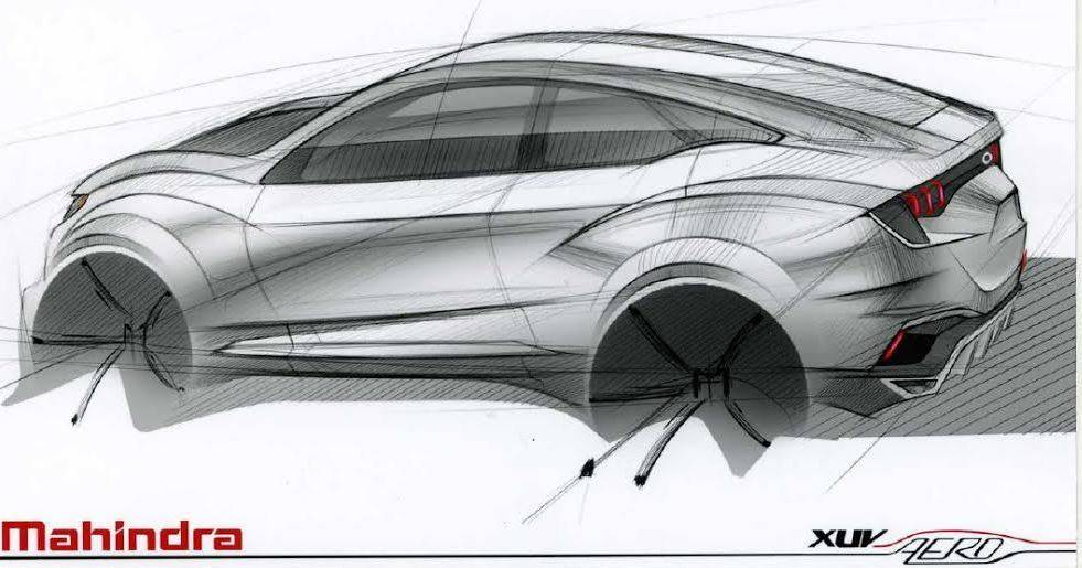 Mahindra Reveals First Sketch of XUV Aero Coupe - autoevolution