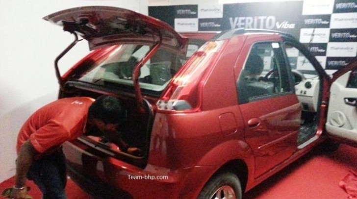 Mahindra Verito Vibe Has a Really Strange Trunk Opening