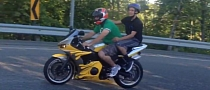Major Fail: Bicycle Helmet on a Sport Bike [Video]
