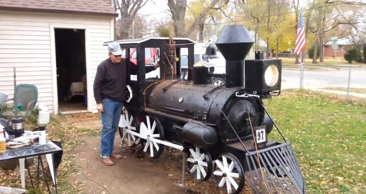 Car Shows In Illinois >> Man Builds Steam Engine BBQ Smoker, Names It after a Country Song - autoevolution