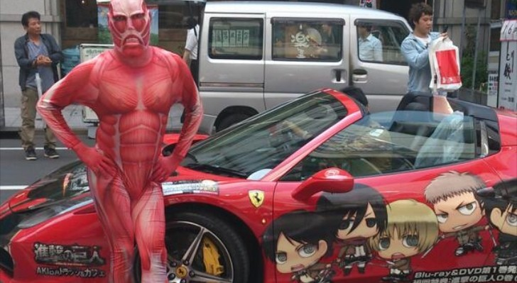 Man in Monster Spandex Costume Poses Next to Ferrari in Japan [Video]