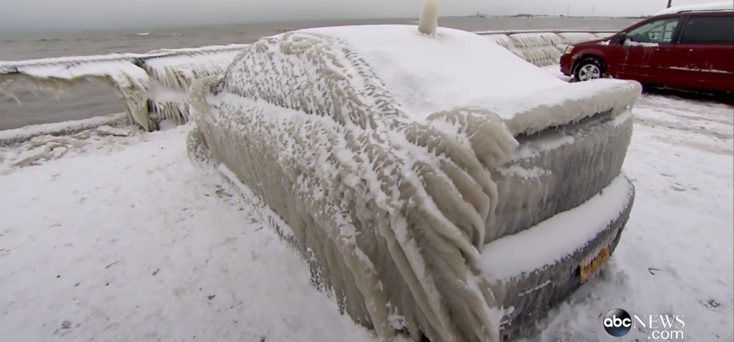 2016 Lancer Evolution >> Man Parks His Car Near Lake Erie, the Car Freezes and Becomes Internet Sensation - autoevolution