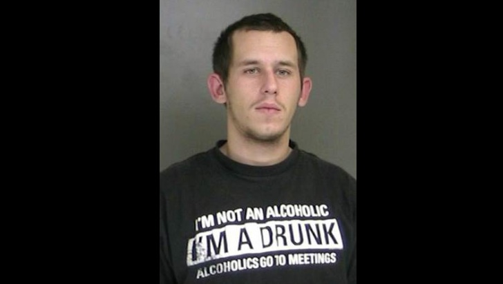 Man Wearing 'I'm a Drunk' T-Shirt Arrested for DWI, Crashes into Cop Car