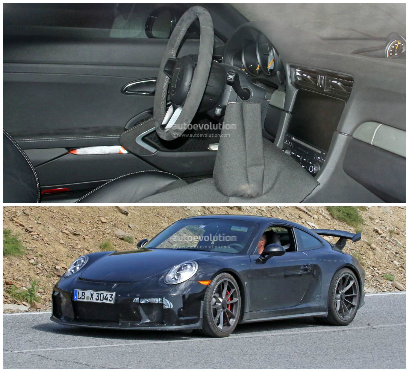 manual gearbox 2017 porsche 911 gt3 991 2 spied with. Black Bedroom Furniture Sets. Home Design Ideas