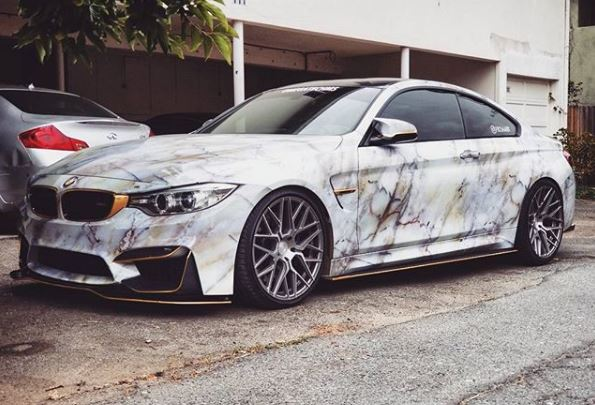 Marble Wrap Bmw M4 Looks Rock Solid Autoevolution