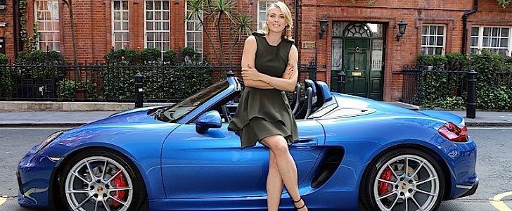 Maria Sharapova Takes A Drive In The New Porsche Boxster