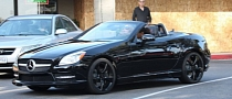 Mariah Carey Spotted in Her New Mercedes SLK