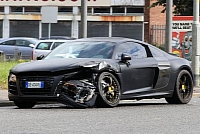 Mario Ballotelli's damaged Audi R8
