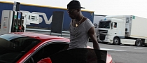 Mario Balotelli Drives a Ferrari F12 Berlinetta