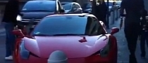 Mario Balotelli Rides in a Ferrari 458 Italia [Video]
