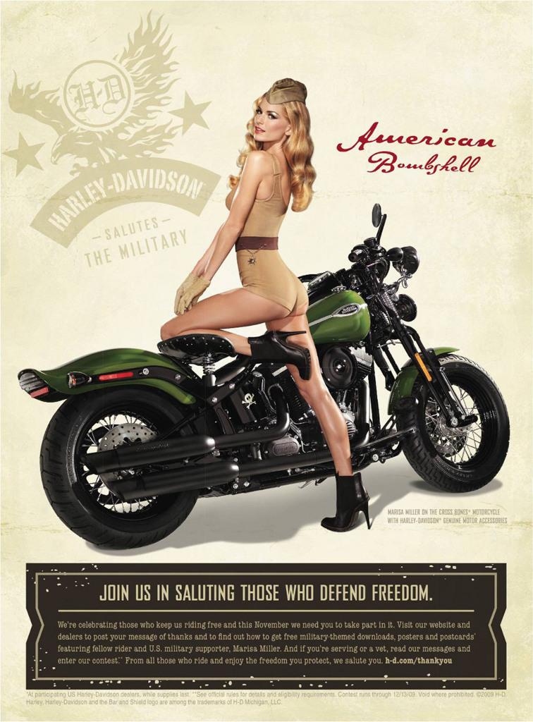 Update Marisa Miller Helps Harley Davidson Salute The