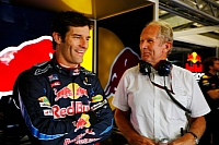 Mark Webber and Helmut Marko