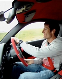 Webber putting the GT2 RS through its paces