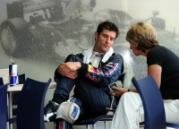 Mark Webber alongside manager and partner Ann Neal