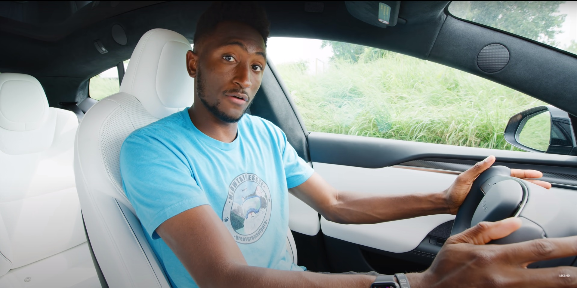 Marques Brownlee Talks Luxury Difference Between Model S Plaid and Taycan