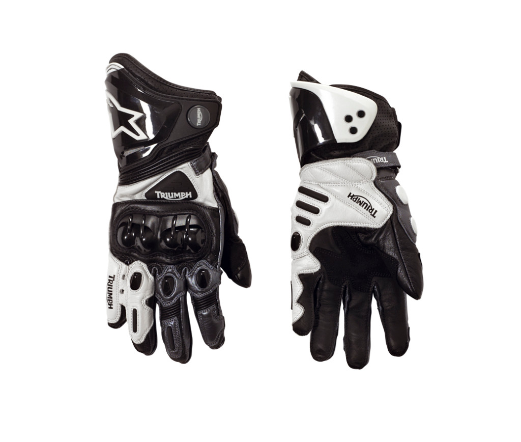 Triumph motorcycle leather gloves - Marriage Triumph Alpinestars Gives Birth To Riding Apparel Line