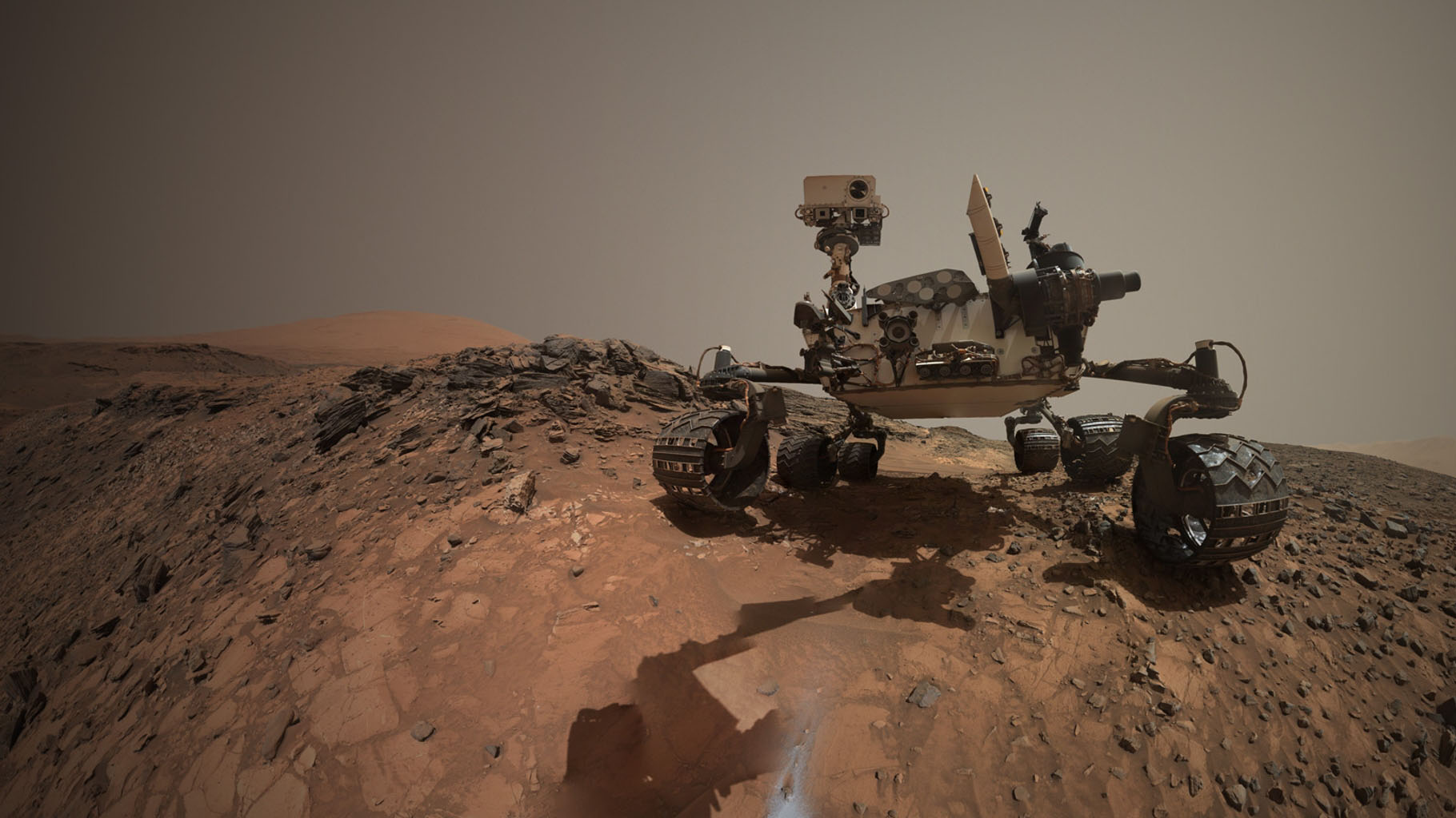 Mars Rover Curiosity Proves the Selfie Syndrome Has Reached    Mars Curiosity Selfie