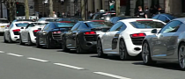 Marvel Throws Audi R8 Parade in Paris [Video]