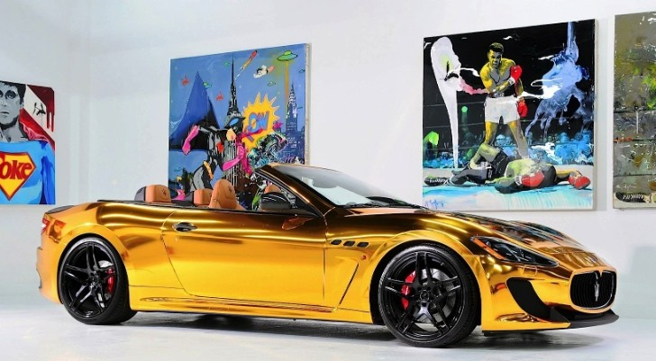 Maserati GranCabrio Gold from Velos Designwerks [Photo Gallery]