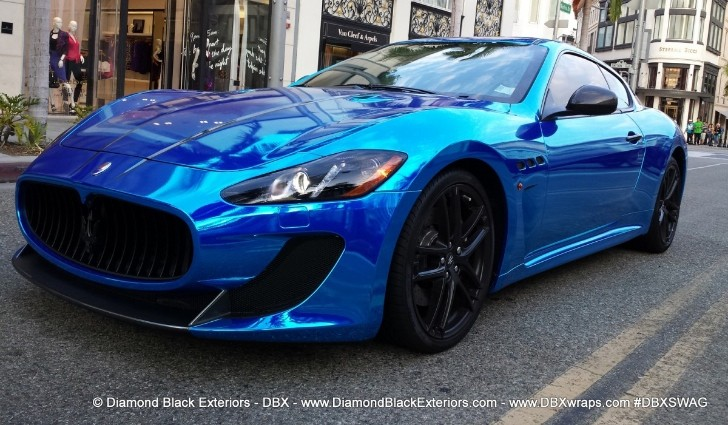 Maserati GranTurismo MC Wrapped in Chrome Blue [Video] [Photo Gallery]