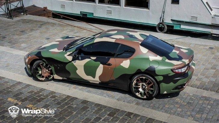Maserati Granturismo S Gets Camo Wrap from WrapStyle ...