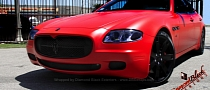 Maserati Quattroporte Wrapped in Matte Red by DBX [Video] [Photo Gallery]