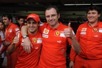 Massa finds victory in defeat alongside Ferrari boss Stefano Domenicali