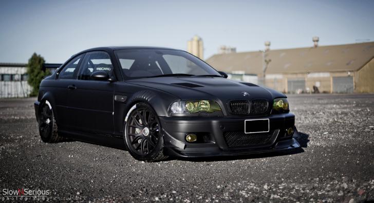 Matte black e46 m3 means business autoevolution