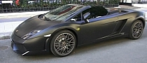 Matte Black Gallardo Does Batmobile Impersonation [Video]