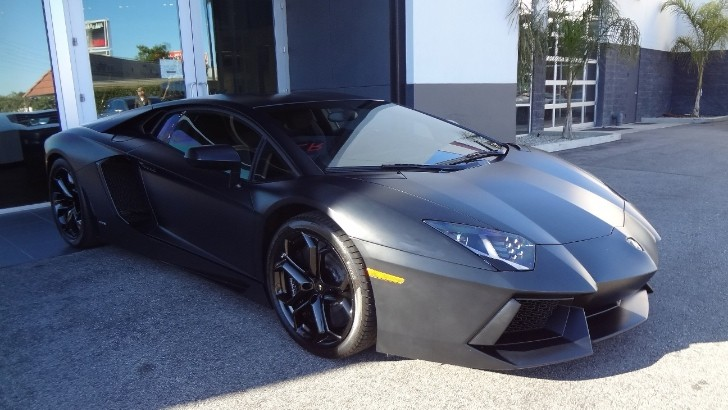 Matte Black Lamborghini Aventador Sold. Was It Kanye's?