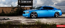 Matte Blue Dodge Charger on Vossen Wheels Is Very Much Alive [Photo Gallery]