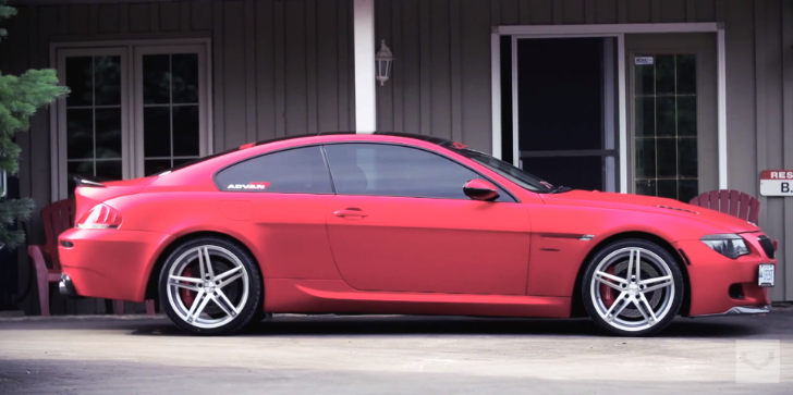 Matte Chrome Red BMW E63 645i Detailed in Vossen's 3rd Toronto Clip [Video]