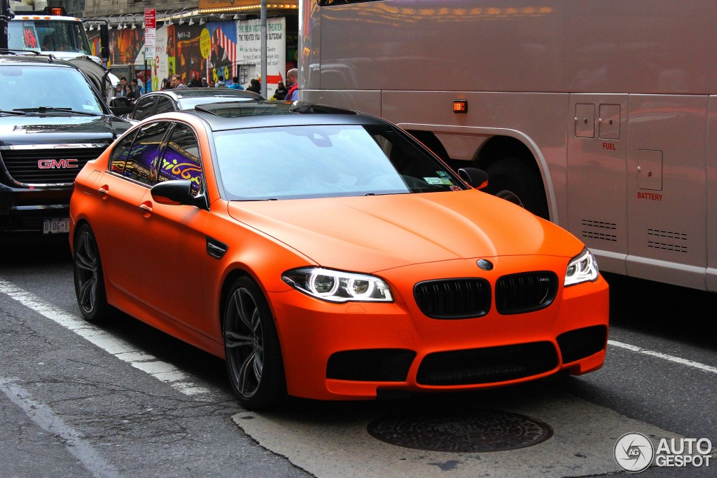 Matte Fire Orange Bmw Lci M5 Spotted In New York Autoevolution