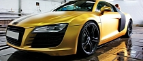 Matte Gold Audi R8 in Russia [Photo Gallery]