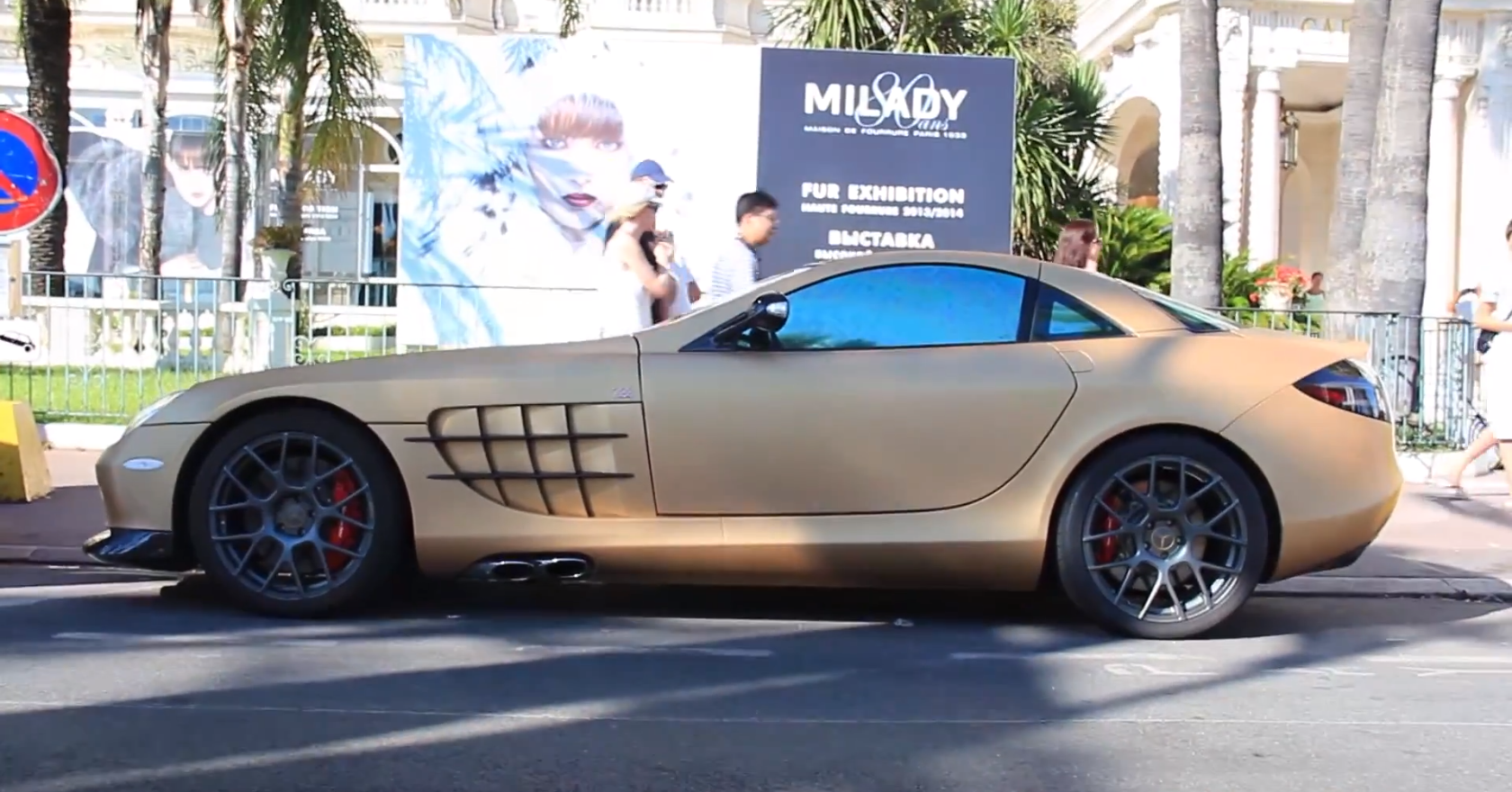 Matte Gold Slr Mclaren 722 Edition Spotted Autoevolution