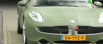 Matte Green Fisker Karma Sounds Futuristic [Video]