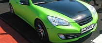 Matte Green Hyundai Coupe Wrapped by Re-Styling [Photo Gallery]