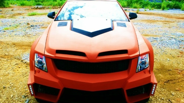 Matte-Orange Cadillac CTS Gets Body Kit of Questionable Taste in China