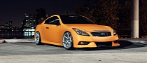 Matte Orange Infiniti G37 on Vossen Wheels [Video]