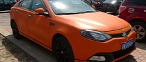 Matte Orange MG6 Spotted in China