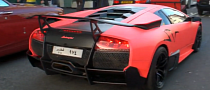 Matte Pink Lamborghini Murcielago LP670-4 SV in London [Video]