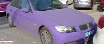 Matte Purple BMW E90 3 Series Spotted in China