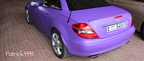 Matte Purple Mercedes SLK 350 in Dubai [Video]