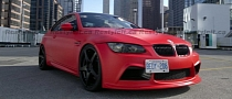 Matte Red BMW M3 Looks Like The Devil [Photo Gallery]