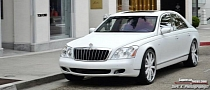 Maybach 57s in Matte White Rides on Forgiato Wheels [Photo Gallery]
