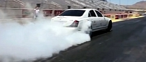Maybach Burnout and Drag Race Video