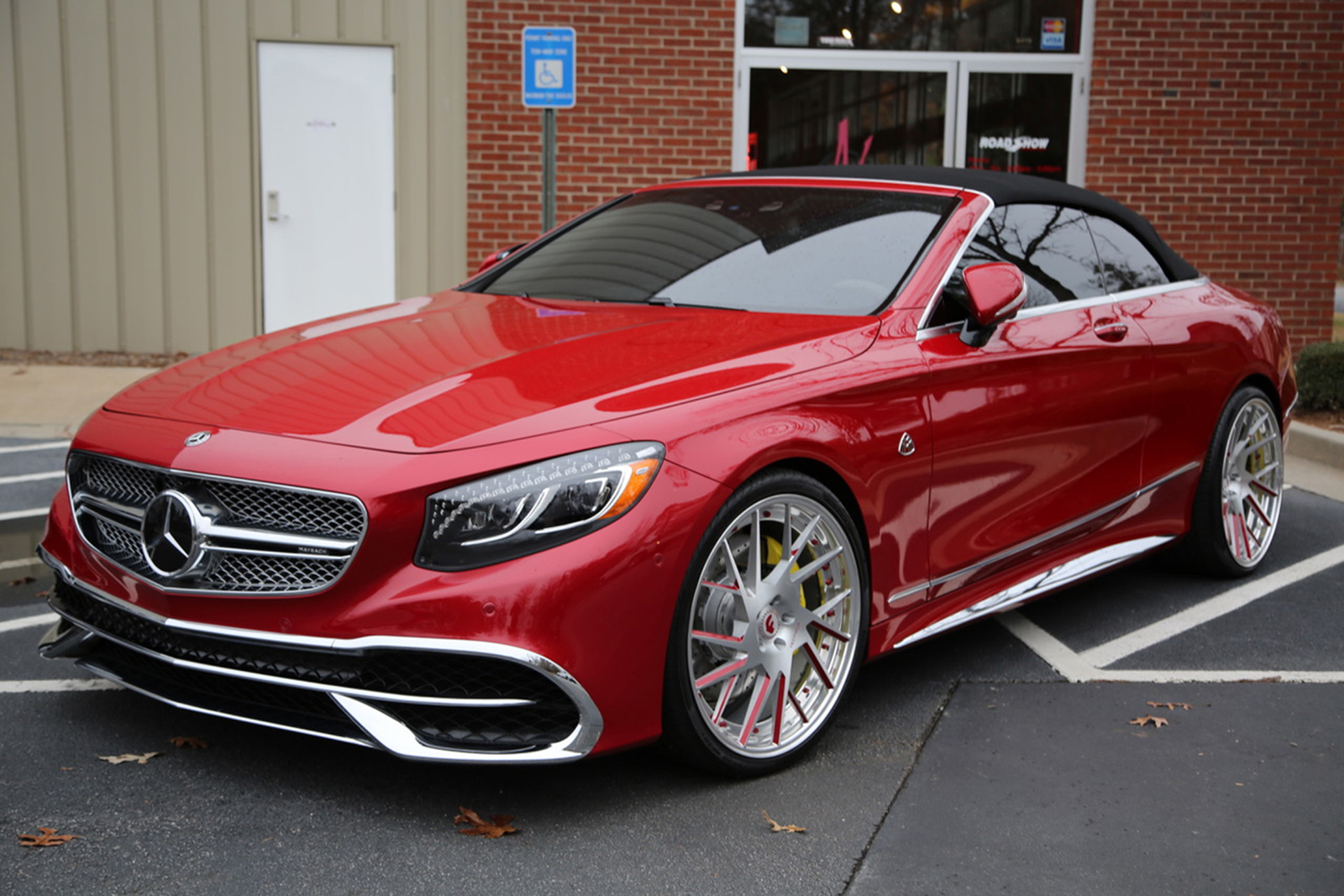 mercedes-maybach s650 cabriolet on forgiato wheels is a chrome
