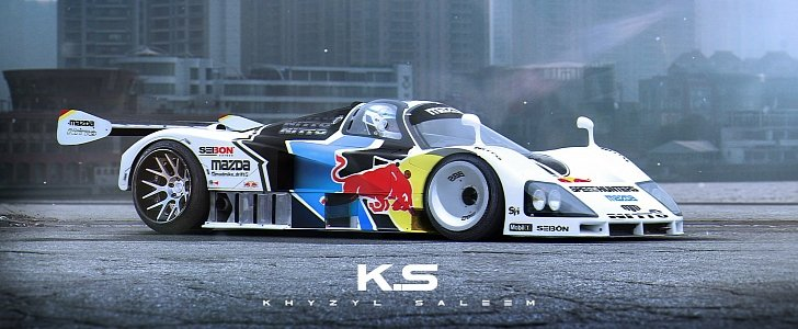 Mazda 787b Becomes A Drift Car In This Manic Rendering