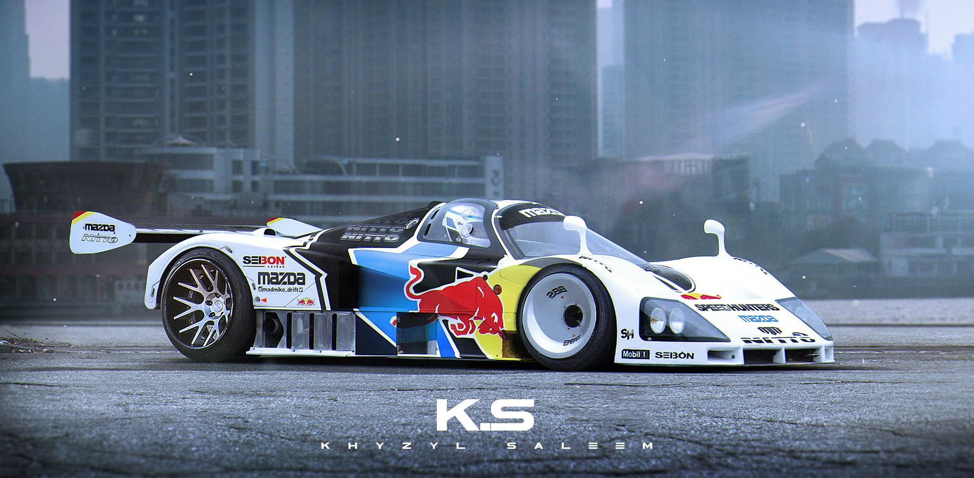 Mazda 787B Becomes a Drift Car in This Manic Rendering - autoevolution